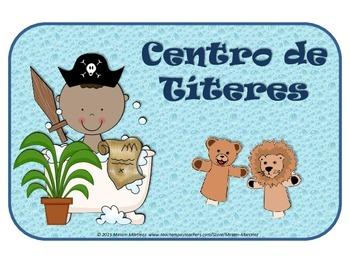 ROTULOS PARA CENTROS DE APRENDIZAJE CON PIRATAS / PIRATES - SPANISH CENTER SIGNS