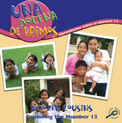 A Dozen Cousins: Exploring the Number 12 (Spanish Version) [Interactive eBook]