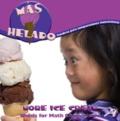 More Ice Cream: Words or Math Comparison (Spanish Version) [Interactive eBook]