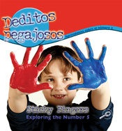 Sticky Fingers: Exploring the Number 5 (Spanish Version) [Interactive eBook]