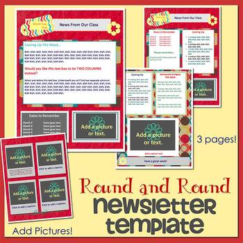 ROUND AND ROUND theme - Newsletter Template WORD