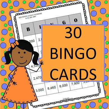 ROUNDING BINGO 4-DIGIT NUMBERS ROUNDED TO TEN, HUNDRED, THOUSAND