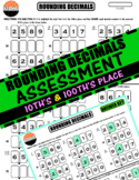 ROUNDING DECIMALS Practice Assessment with Answers: 10ths/100ths Place (5.3A)