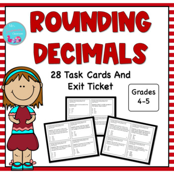 ROUNDING DECIMALS TASK CARDS 5.NBT.4