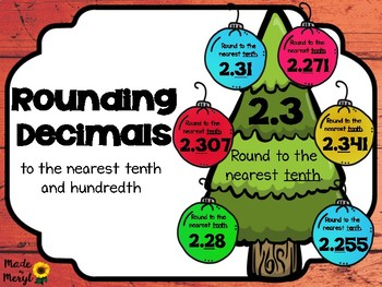 ROUNDING DECIMALS tenths and hundredths