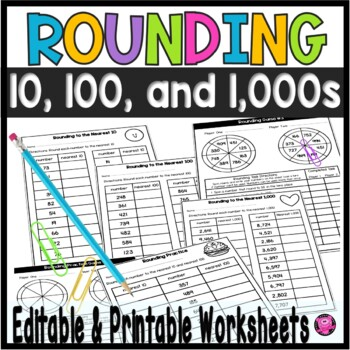 Rounding Differentiated Worksheets and Games