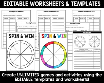 Rounding Activities Games and Worksheets
