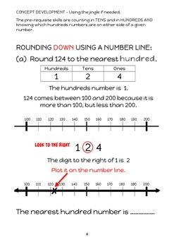 ROUNDING - NEAREST 100 - INTERVENTION & DIFFERENTIATION PROGRAM & 60 Task Cards