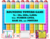 ROUNDING TOWERS GAME for 10s, 100s, 1,000s: Visual Math