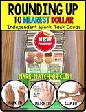 """ROUNDING UP To Nearest DOLLAR Task Cards """"Task Box Filler"""""""