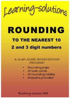 ROUNDING to the nearest TEN - BUNDLED - PROGRAM and 100 Task Cards