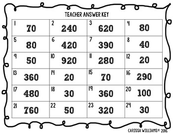 ROUNDING to the nearest ten, hundred and thousand Task Cards (3rd or 4th grade)