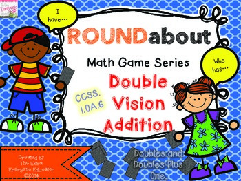 ROUNDabout Math Game Series:  Adding Doubles to 18