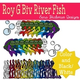 ROY G BIV (Rainbow) River Fish Clipart