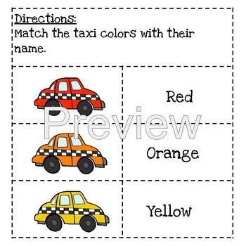 ROYGBIV Color Lapbook (Taxi Theme)