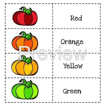 ROYGBIV Colors Lapbook (Pumpkin Theme)