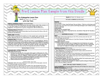 PRE-K Lesson Plans MONTH 4 Bundle by GBK!!!! New!!