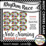 Music Centers: Rhythm Race Note Naming Edition {BUNDLE} Le