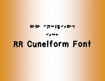 RR Cuneiform Font (Personal Use)