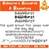 RRR Font: Single Font (BubbleBurst)