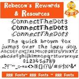 RRR Font: Single Font (ConnectTheDots)
