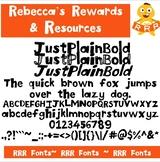 RRR Font: Single Font (JustPlainBold)