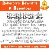 RRR Font: Single Font (StraightAsARuler)