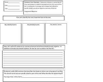 RS for Lit. Grade 9-10 Standard 2