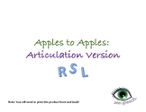 RSL Articulation Apples to Apples