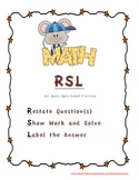 RSL for math open-ended problems Poster and Handout