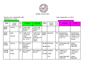 RSP Sample Lesson Plans-Editable