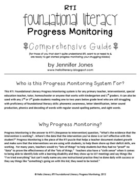 RTI: 125 CBMs for Progress Monitoring Foundational Literacy Interventions-Set 1