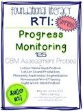RTI: 125 CBMs for Progress Monitoring Foundational Literacy Interventions-Set 1