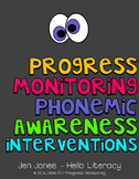 RTI: 125 Assessments for Progress Monitoring Phonemic Awar