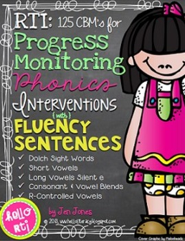 RTI: Fluency Sentences for Progress Monitoring Phonics Interventions
