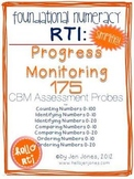 RTI: 175 CBM's for Progress Monitoring Foundational Numeracy Interventions