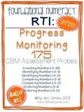 RTI: 175 CBM's for Progress Monitoring Foundational Numeracy Interventions