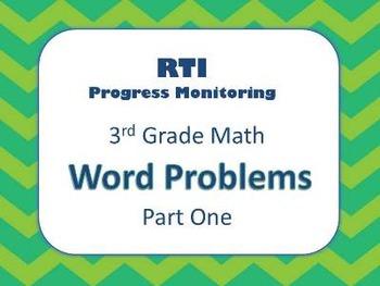 RTI 3rd Grade Math Word Problems (8 Weeks of Progress Monitoring)