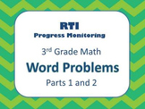 RTI 3rd Grade Math Word Problems BUNDLE (Parts 1 and 2)