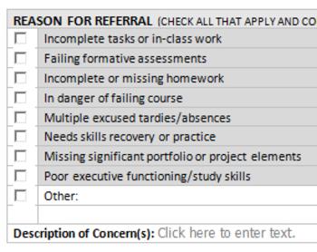 RTI: Academic SLIP Referral Form
