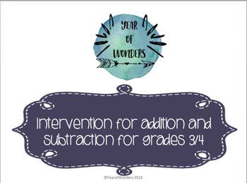 RTI Addition and Subtraction Activities- 5 Activities included