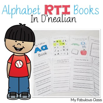 RTI D'Nealian Alphabet Books