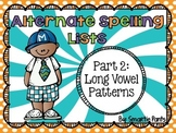 RTI Alternate Spelling Lists Part 2 (Long Vowels)