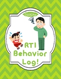 RTI Behavior Log FULLY EDITABLE!