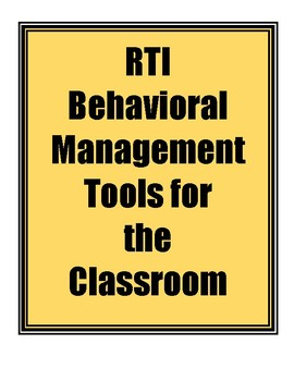 Behavior Management Tools and Rewards for Tiers 1-3
