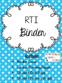 RTI Binder Editable