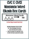 RTI CVC and CVCE Nonsense Word Elkonin Box Cards
