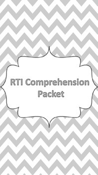 RTI Comprehension Skills Packet