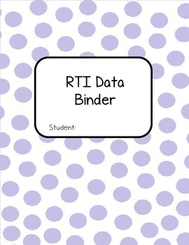 RTI Data Binder Pages