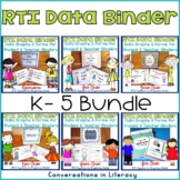 RTI Data Tracking Forms Binders K-5 The Bundle